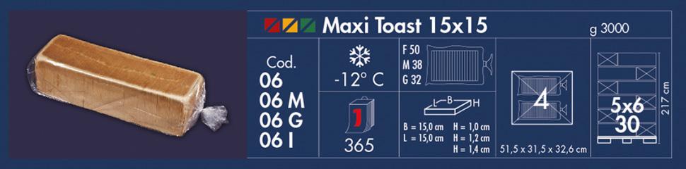 maxi toast 15x15 altino pane venezia